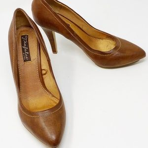 Zara shoes- trf leather heels size 39 (US 9)
